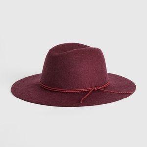 GAP Cranberry 100% Wool Fedora NWOT